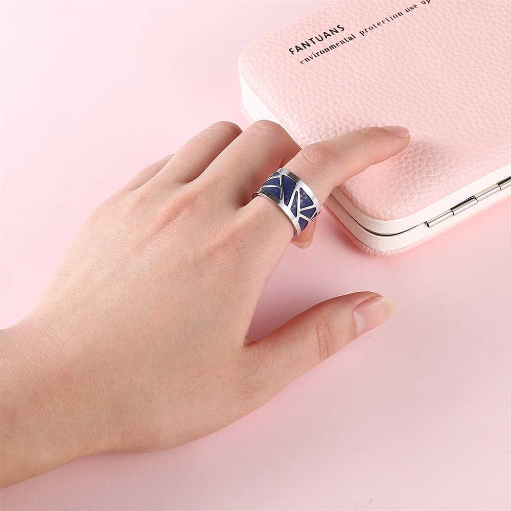 Legenstar любые обруч кольца для Для женщин Open Изменение размера палец кольца Anillo Hombre Нержавеющаясталь Двусторонний кожаный Bague моды Jewelr