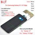 НОВОЕ обновление для Samsung Galaxy S7 Корпус Батареи Двери Case ремонт Для Galaxy S7 Edge Вернуться Корпус Крышка Стекла и клей