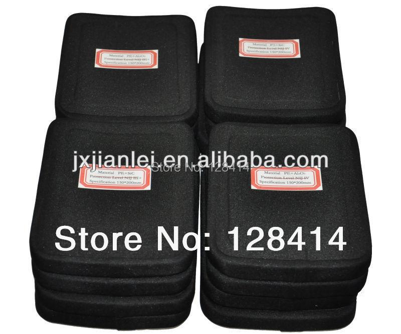 MILITECH 6'' x 8'' 1 PC Al2o3 NIJ III+ Bulletproof Side Panel NIJ III+ Stand Alone Ballistic ESAPI Panel for AK47 & SS109 & M80 militech 6 x 8