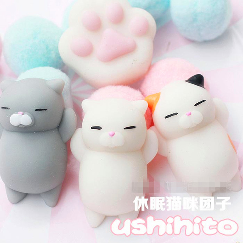 squishy cat stress relief toys fun entertainment antistress toy slime novelty & gag toys jokes play geek slime toys gadget