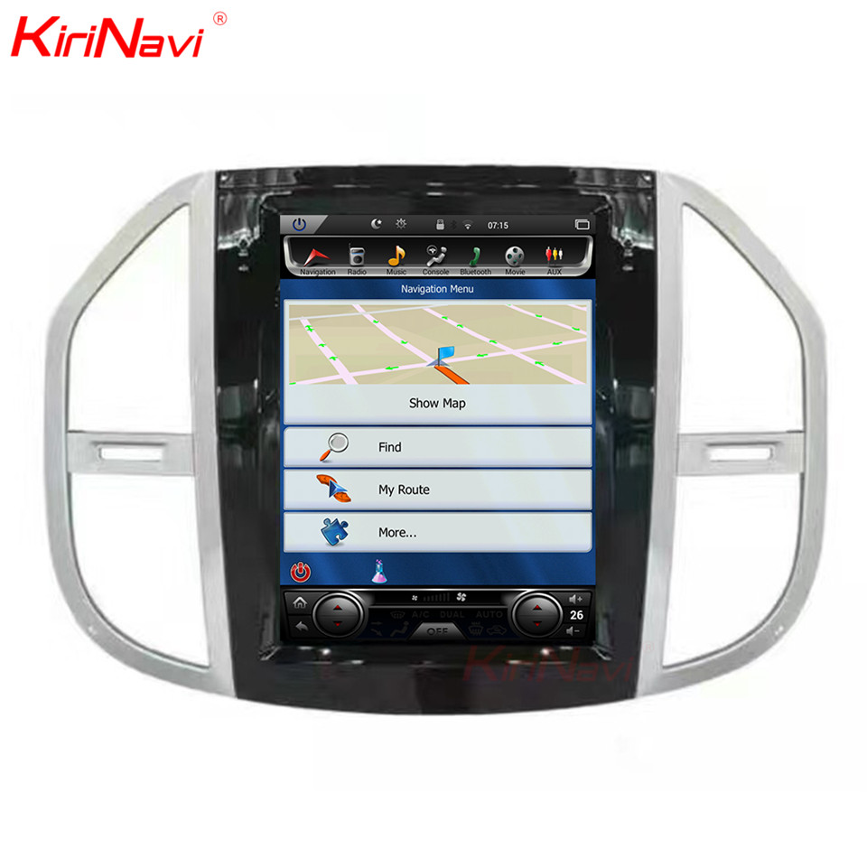 KiriNavi Vertikale Bildschirm Tesla Stil Android 6.0 12,1 Zoll Auto Radio Dvd Für Mercedes Vito 2 Din Gps Navigation Multimedia 64g
