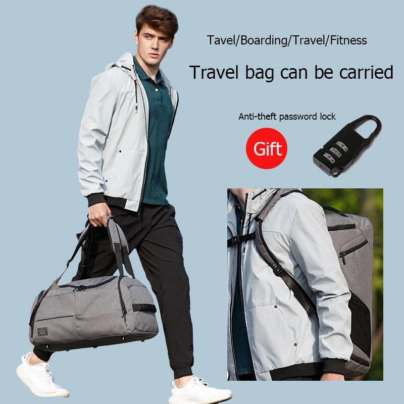 15 inchMultifunction hombres mujer bolsa de Deporte Fitness bolsas mochilas para portátiles de mano de viaje con zapatos bolsillo Yoga bolsa de deporte - 3