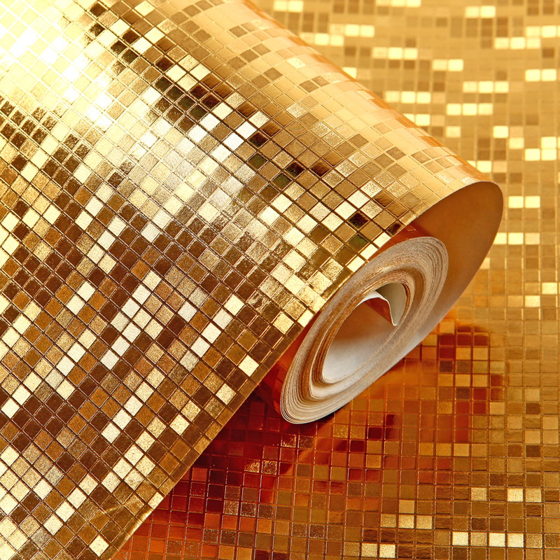 3D Wallpaper Embossed Gold foil Metallic Wallpaper for walls 3 d Bedroom Living Room desktop papel de parede QZ0194  title=