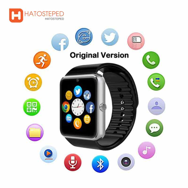 HATOSTEPED Multilingual Bluetooth Smart Watch Wristwatch For Samsung Xiaomi Huaiwei IPHONE For Android Ios Smartphones IPhone