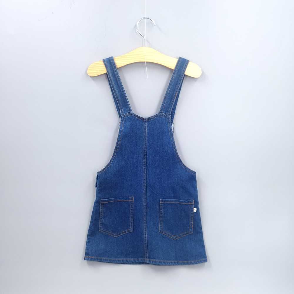 ... 1-7T Baby Girls Suspender Skirts Summer Dress Overalls Kids Denim Jeans  Flowers Outfits Toddler ... d05d1f2abe9b