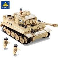 995Pcs German King Tiger Tank Building Blocks Sets Military WW2 Army Soldiers DIY Bricks Toys
