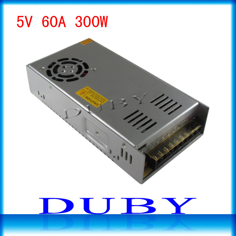 10piece lot 5V 60A 300W Switching power supply Driver For LED Light Strip Display Factory Supplier