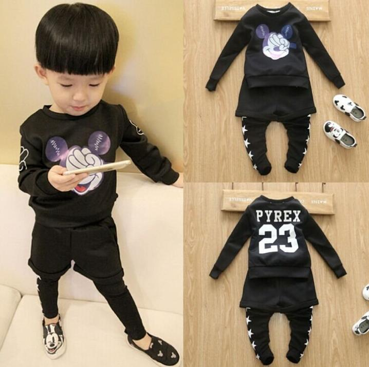 Autumn suit Baby Boys Cartoon long sleeve T-shirt+ Shorts leggings Suit Children 2pcs set wholesale