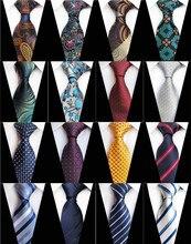 New Design Paisley Plaid Jacquard Woven Silk Mens Ties Neck Tie 8cm Striped for Men Business Suit Wedding Party