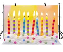 150x220cm Colorful Candles Backdrop Cake Birthday Theme Photography Background and Party