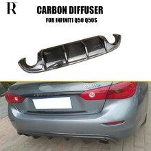 Q50 задний диффузор из углеродного волокна для Infiniti Q50 2013 S стиль задний бампер диффузор спойлер