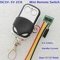 Дистанционный выключатель Micro Mos 2 канала маленький беспроводной Бесконтактный переключатель 3 3 v 3 6 v 3 7 v 4 2 v 4 5 v 5v Низкий Stadby ток 0 5-0.8ma 433