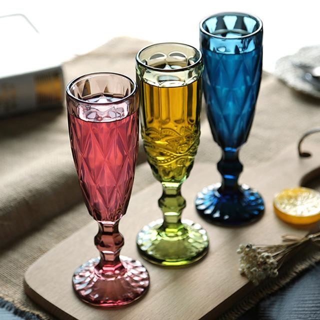 Vintage Patterned Champagne Glass