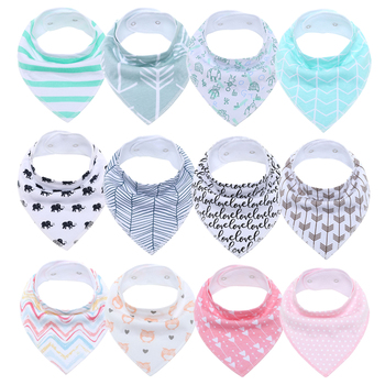 100% Cotton Triangle Baby Bibs Bandana Bib For Infant Saliva Scarf Cartoon Newborn Babador Baby Feeding Towel Toddler Burp Cloth new cute baby bibs cartoon printing cotton newborn infant girls and boys toddler triangle scarf bandana