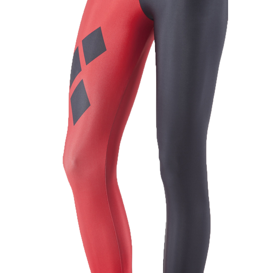 Women's Harley Quinn Costume Spandex Leggings Cosplay Harley Quin Skinny Pants Halloween Costumes for women Plus Size S-4XL