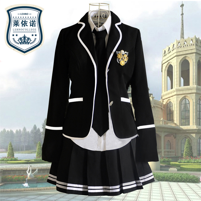 Brands Lehno Junior/Senior high school Studernts School Uniforms Chorus Clothing Girls Tracksuits Sport Suits Shirt+coat+Skirt