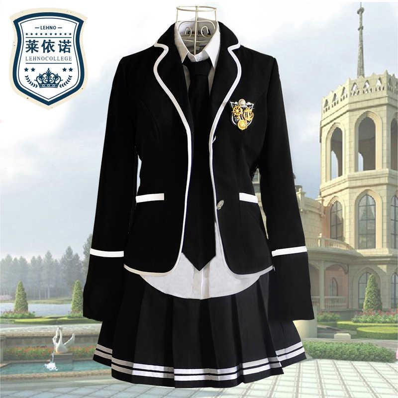 Бренд Lehno Junior/Senior high school Studernts школьная форма Одежда для хора девочек костюмы для тренировок, спортивные костюмы, рубашка + пальто + юбка