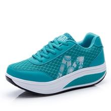 Женские кроссовки на платформе; светильник на танкетке; Zapatillas; спортивная обувь для женщин; дышащая обувь для похудения; обувь для танцев