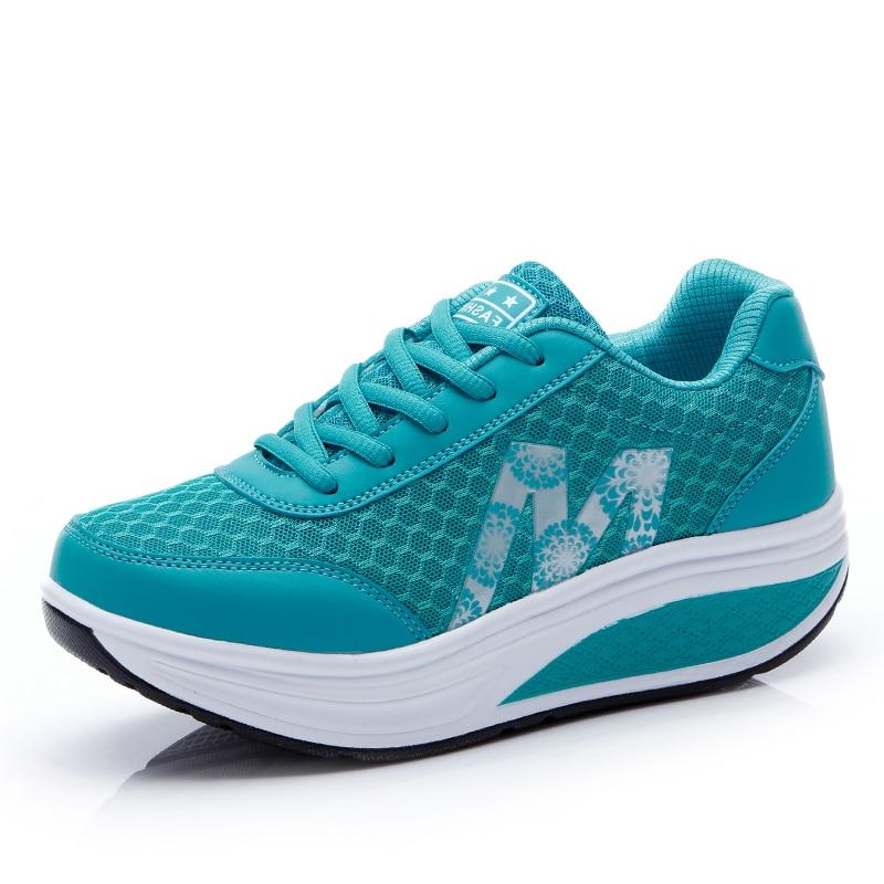 Sparsam Frauen Turnschuhe Plattform Toning Keil Licht Gewicht Zapatillas Sport Schuhe Für Frau Atmungsaktive Abnehmen Fitness Schaukel Schuhe Gesundheit Effektiv StäRken Sport & Unterhaltung
