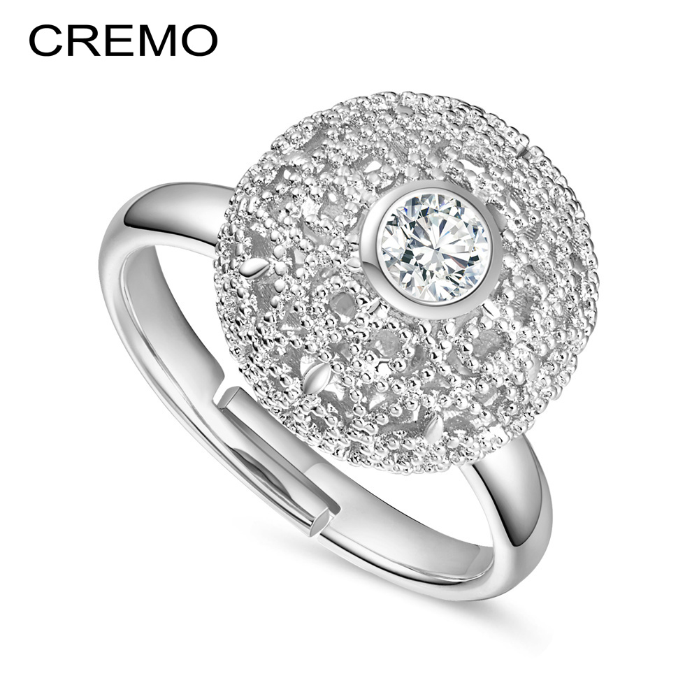133bc2ba948b Кремо Открытие Кольца для женщин аксессуары 2 цвета 3-мерные дизайнерские  Стразы модные обручальные кольца