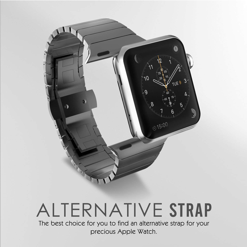 stainless steel strap for apple watch 4 band 42mm 38mm metal Butterfly buckle watchband for iwatch bracelet 44mm 40mm 3 2 1 in Watchbands from Watches