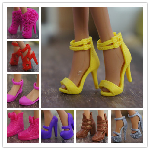 New Original Multiple Colorful Doll Accessories Fashion Sneaker Flat Shoes Genuine Sandals Shoes For Barbie Doll Shoes 1/6