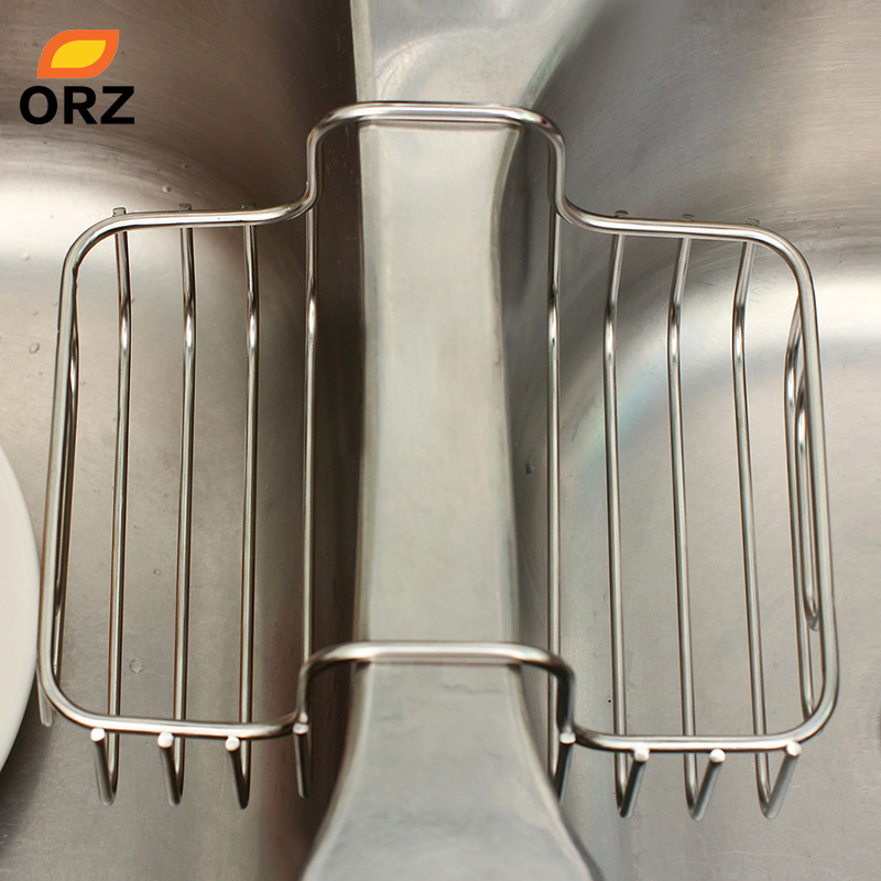 Orz Waschbecken Lagerung Rack Edelstahl 2 Seitige Waschbecken Sieb