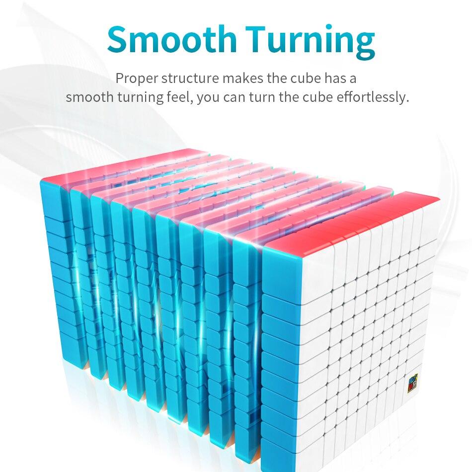 Moyu Meilong 10x10 Cube de vitesse magique Puzzle couleur Mofangjiaoshi 10x10x10 84mm néo Cubo Magico givré Surface jouets pour enfants - 2