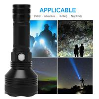 New Arrival LED Flashlight For Hunting Camping Blackout Night 2000LM High Power Long Shot Range 300M USB Rechargeable Waterproof