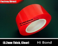 0 2mm Thick 30mm 25M Hi Bond Acrylic Double Sided Adhesive Transparent Tape For LED