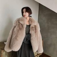 Real Fox Fur Coat Women Clothes 2018 Full Pelt Fur Coats Warm Long Sleeve Outerwear Autumn Winter Jacket Abrigo Mujer ZL556