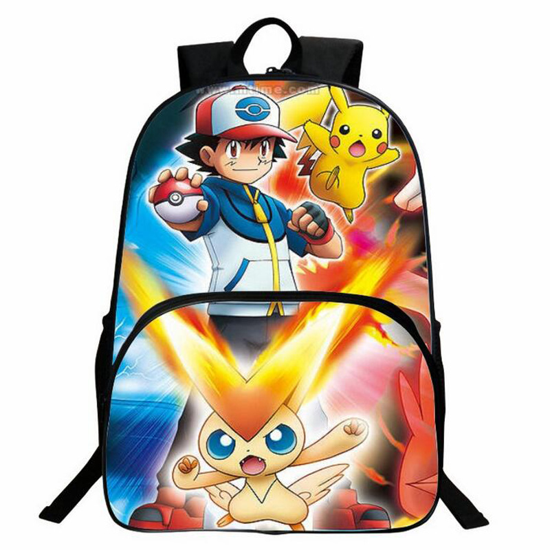 Anime Prints Nylon Backpack For Teenagers Boys Girls Pokemon Backpack Bag Pack Daily Cute Pikachu Backpacks Schoolbags Mochila hanes little boys 5 pack red label prints boxer brief