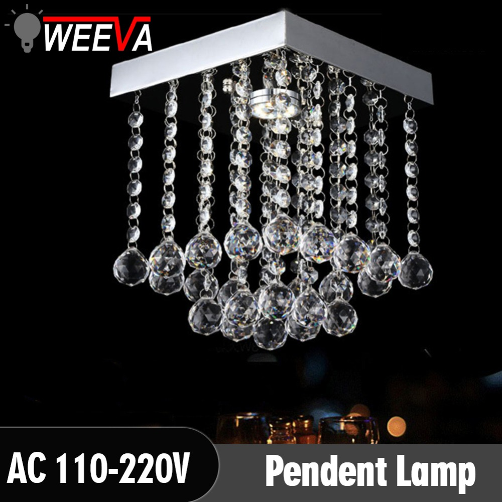WEEVA Fashion crystal led Chandeliers G4 LED lamps Chandeliers restaurant hallway High power LED chandelier light power fashion