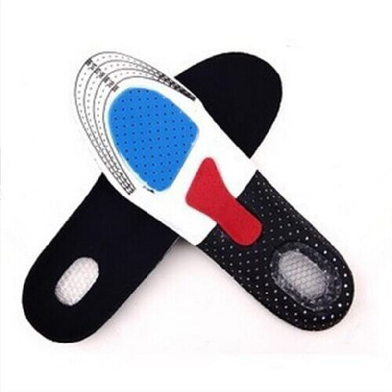 2019 Silicone Gel Insoles Foot Care Orthopedic Insoles Shoe Pads Plantar Fasciitis Heel Running Sport Insoles For Hiking insole image