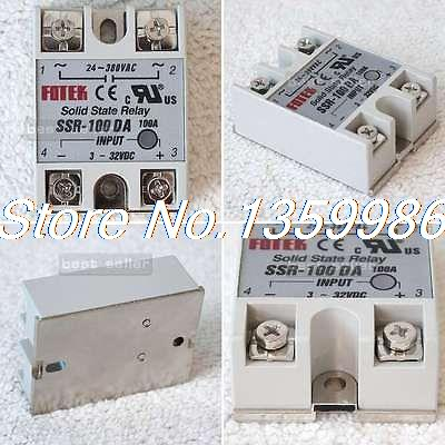 10 pcs Solid State Relay SSR-100DA 100A 3-32VDC/24-380VAC solid state relay g3nb 240 5 b 1 24 vdc