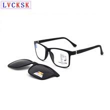 Nuovo Magnete occhiali Da Sole Polarizzati Pinze Progressive Occhiali Da Lettura lente di ingrandimento Per Le Donne Degli Uomini Regolabile Gambe Presbiopia Occhiali A3