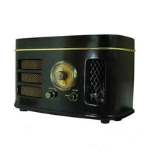 Tube Hybrid Radio High Sensitivity 6N2 Preamplifier 12W Power AM/FM 4 Inch Speaker Desktop Wooden Cabinet Bluetooth Speaker