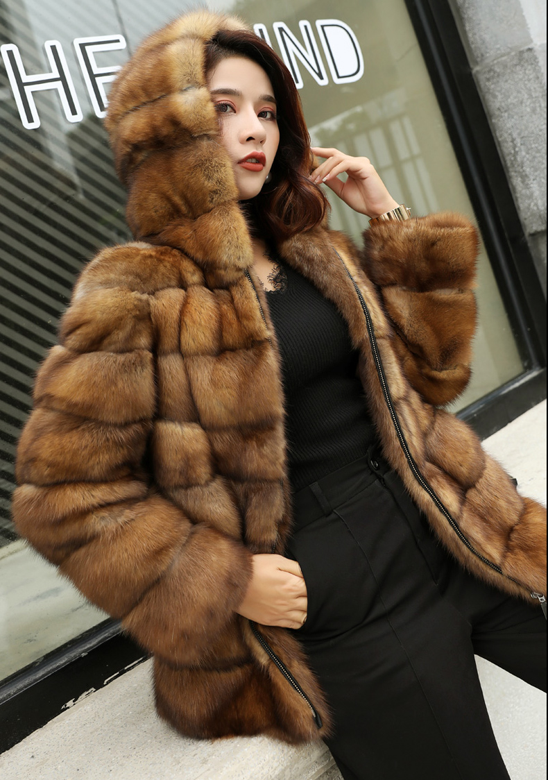 Real Sable Whole Mink Fur Women Slim Regular Coat Martes Zibellina Mink Fur Jacket Porpular Mink Fur Real Fur Back To Search Resultswomen's Clothing