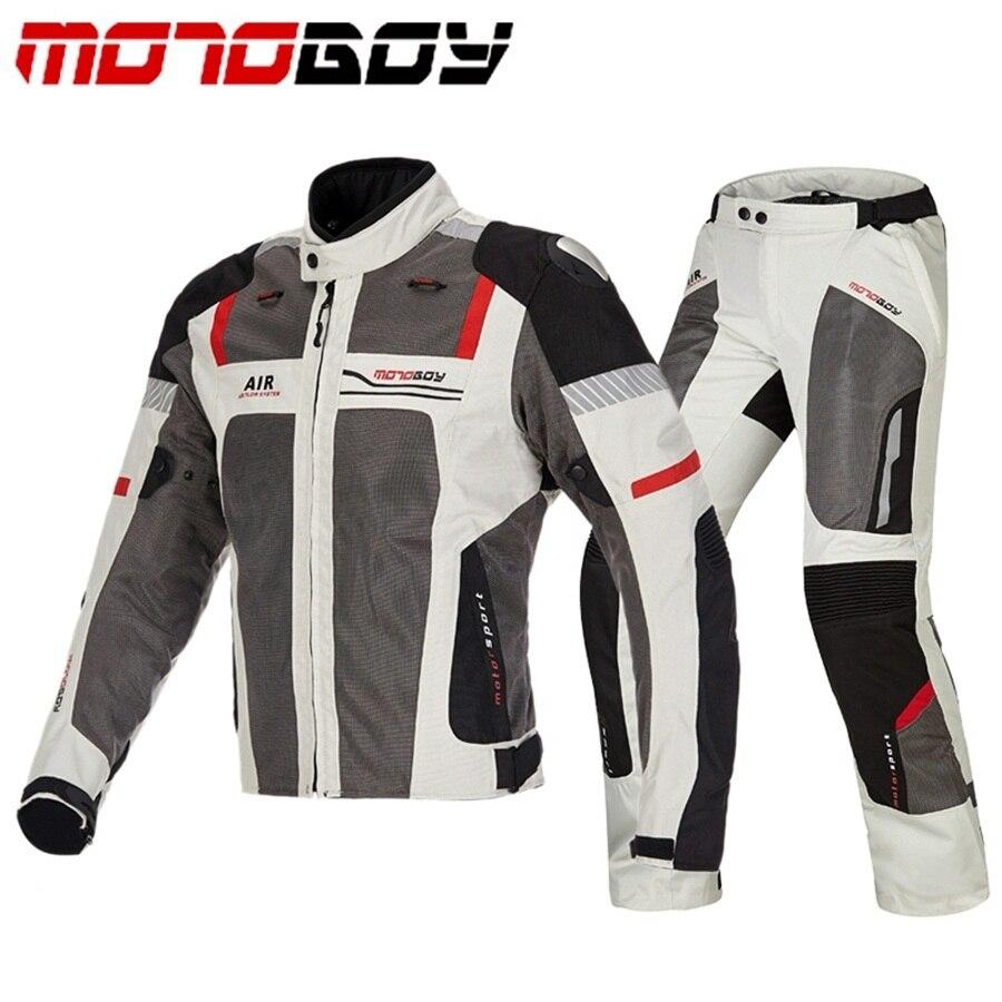 Livraison gratuite 1 ensemble hommes été Mesh respirant réfléchissant pantalon Moto Racing costume Motocross tout-terrain Moto veste et pantalon