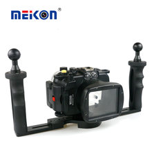 40m 130ft Waterproof Diving Underwater Housing Case For Canon PowerShot WX500+ Two Hands Tray(China)