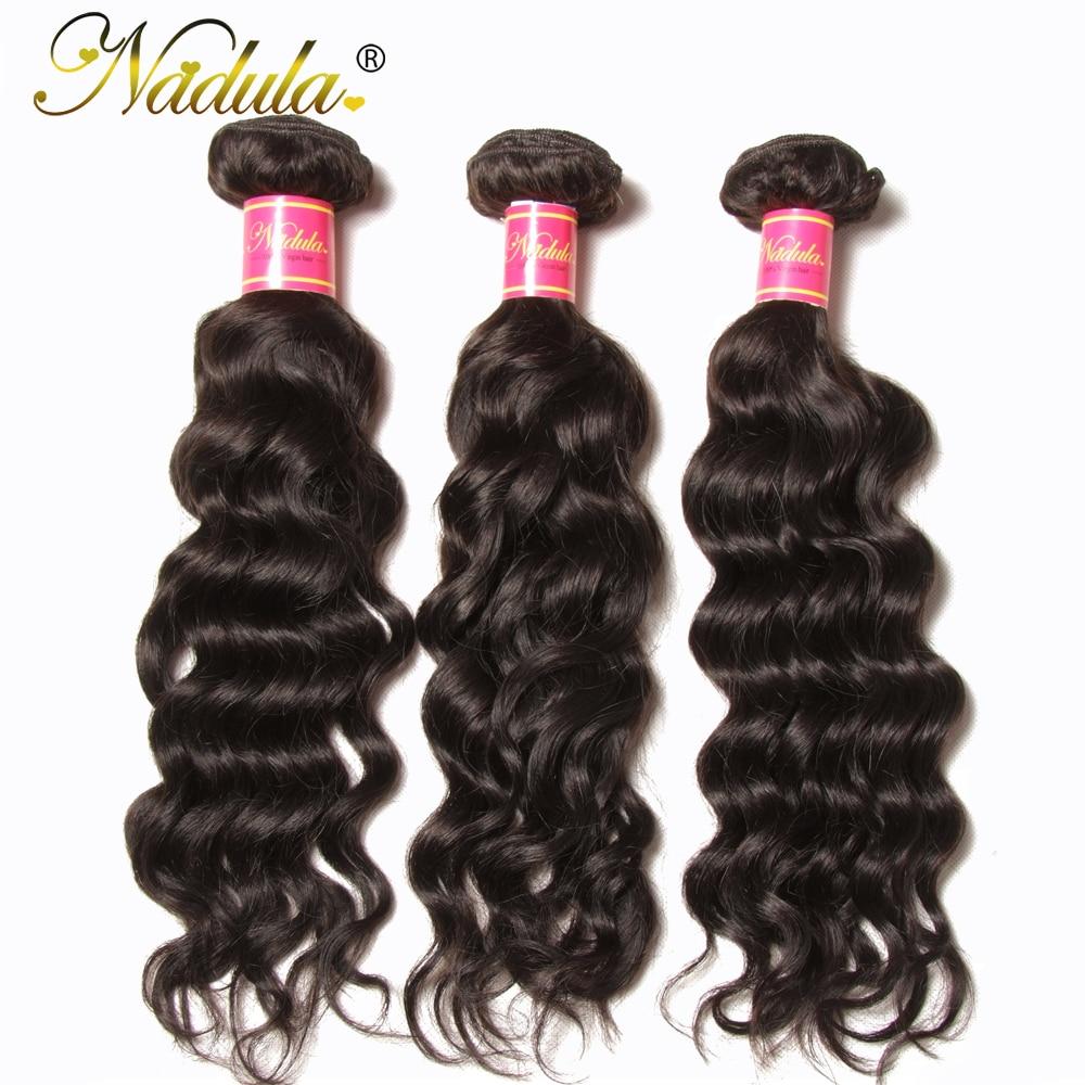 Nadula Hair 3/4 Pcs /Lot Brazilian Natural Wave Remy Human Hair - Human Hair (For Black)