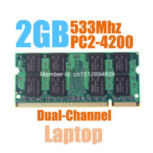 MLLSE New Sealed SODIMM DDR2 533Mhz 2GB PC2-4300 memory for Laptop RAM,good quality!compatible with all motherboard!