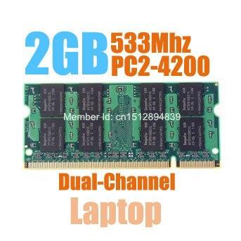 MLLSE Novo Selado 2 GB PC2-4300 DDR2 SODIMM 533 Mhz RAM de memória para computador Portátil, de boa qualidade! compatível com todos os motherboard!