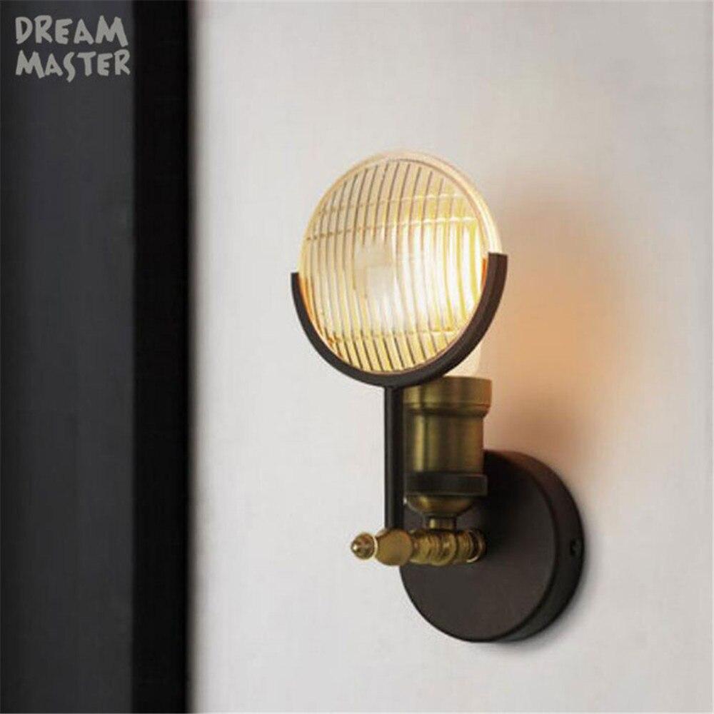 Loft ретро лампа в европейском стиле Творческий настенные светильники столовая проход коридор паб кафе настенный светильник бюстгальтер бра...