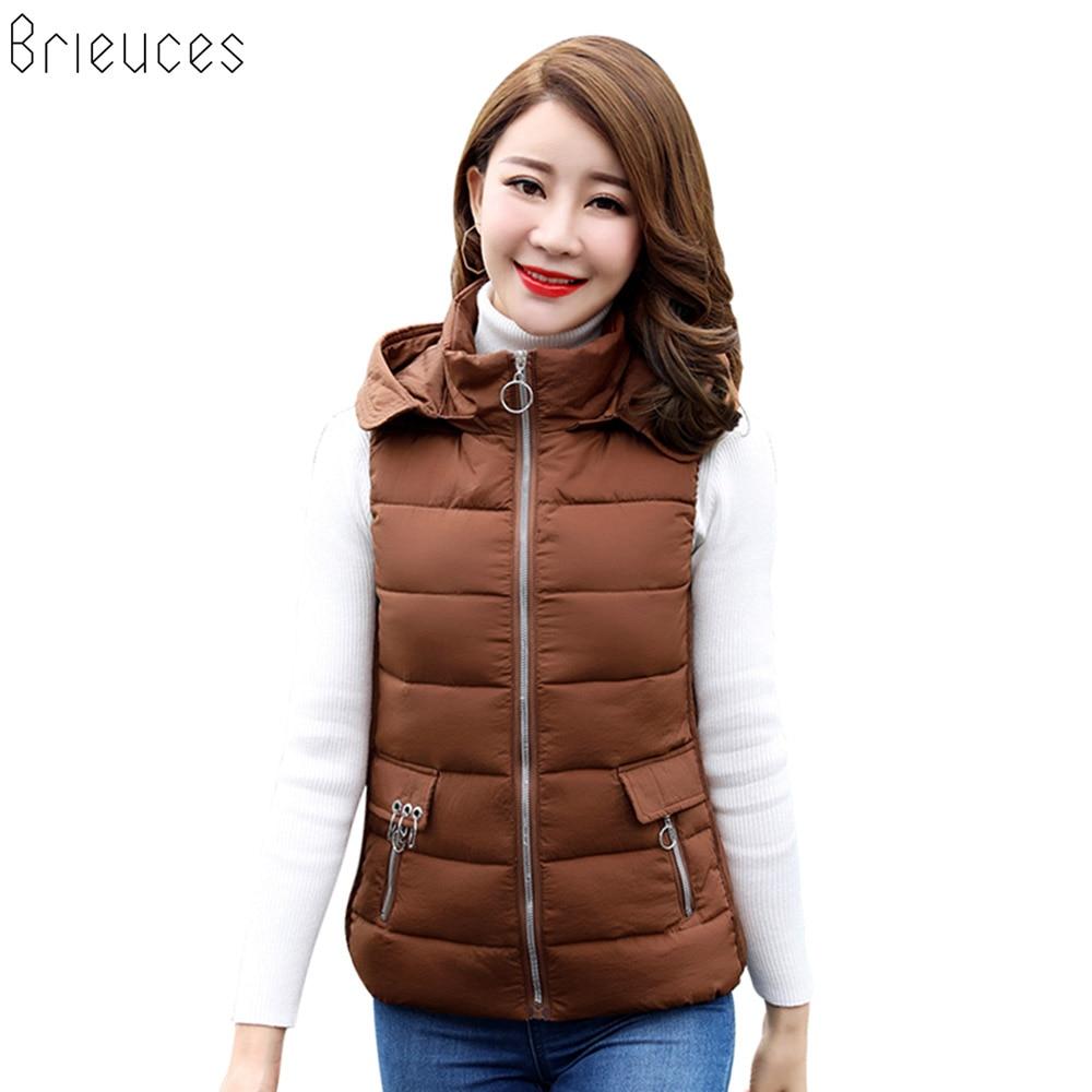 Br S-XXXL 2018 New Brand Spring Autumn Slim Velvet Women Vest Jacket Warm Cotton Hooded Winter Plus Size Waistcoat female