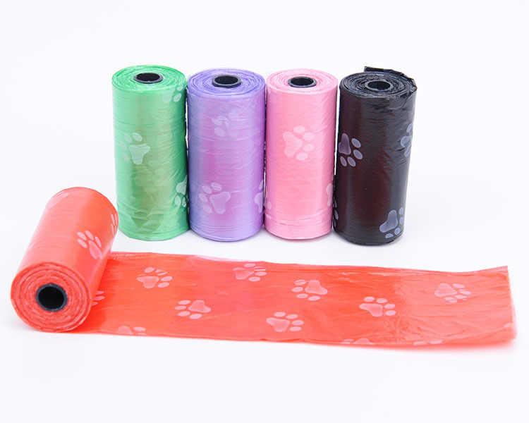 Pet Fornecimentos 1 Rolo Saco de Cocô de Cachorro Preto Pet Dog Poop Bags Cat Waste Pick Up Limpa Bag Para O Cão da Venda Quente