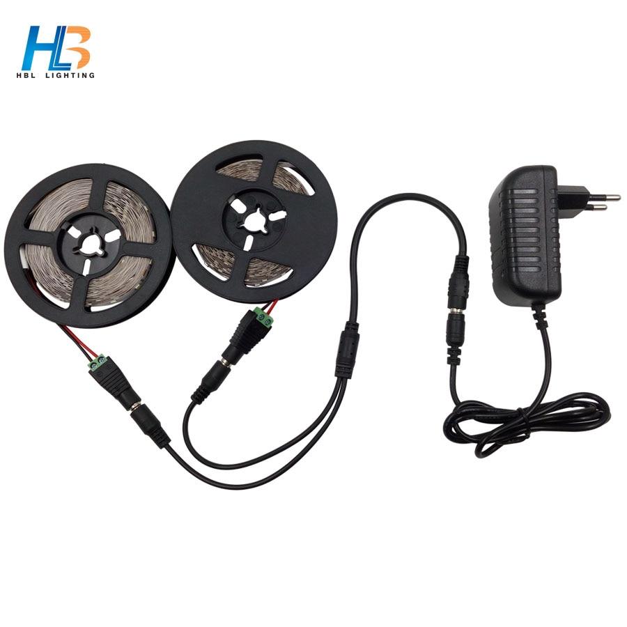 HBL 10M led strip light 2835 SMD White Led lighting 60 leds/m flexible LED Led Ribbon Led tape for home decoration