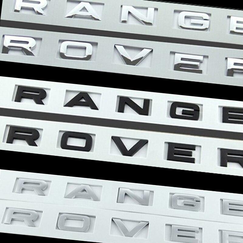 ΞABS etiqueta para Range Rover letras logo emblema Cromo Negro Plata ...