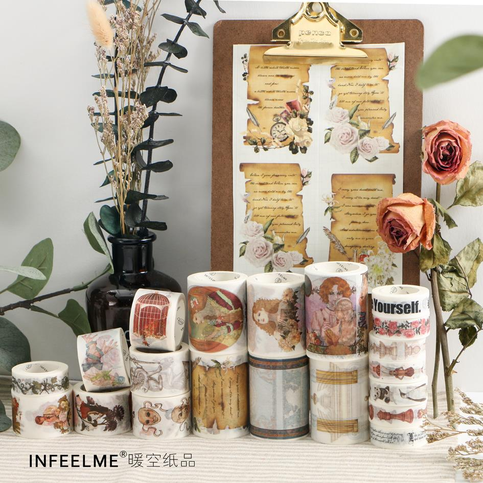 24 NEW Washi Tape  Flowers/Girls Japanese Decorative Adhesive DIY Masking Paper Washi Tape Stickers Label