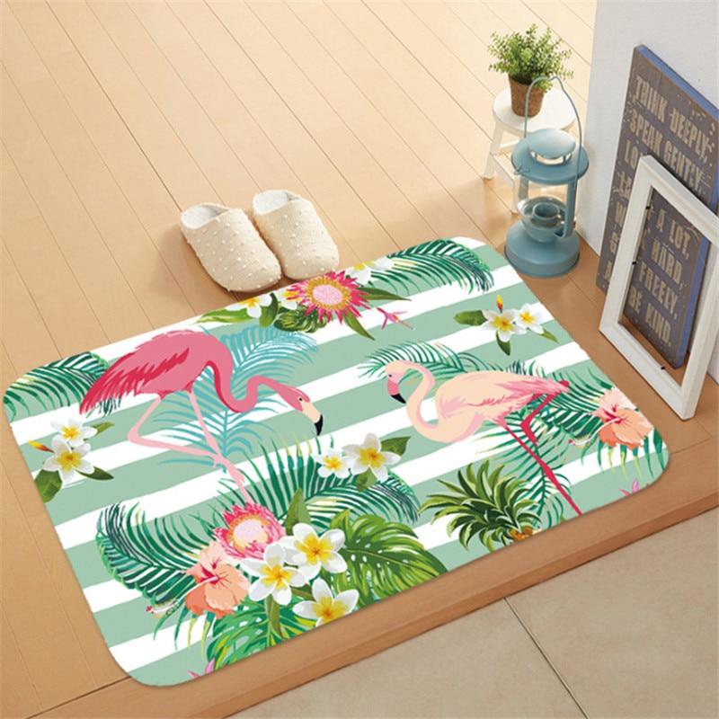 1pc Flamingo HD Printed Non-Slip Bath Mat Absorbent Waterproof Home Decor Flamingo Doormat Flamingo Party Supplies Wedding GiftS 4